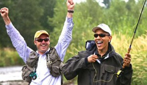 В честь президента Барака Обамы названа пресноводная рыбка. На рыбалке.