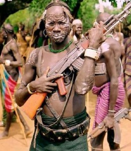 Обряд Смерти африканского племени мурси.