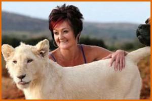Домашний лев жительницы ЮАР.
