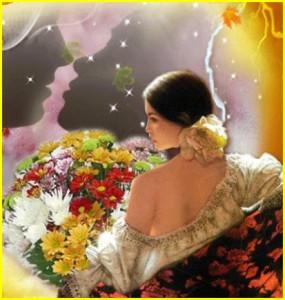 Женщины и цветы. Фото